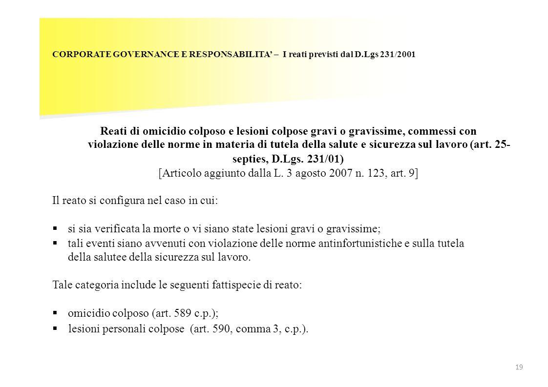 [Articolo aggiunto dalla L. 3 agosto 2007 n. 123, art. 9]